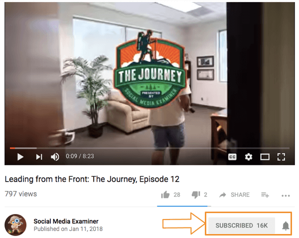 Contação de histórias com vídeo: The Journey: Social Media Examiner
